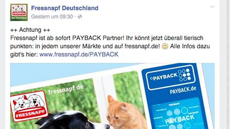 Social Media Kampagne mit Wau-Effekt: Fressnapf führt Payback ein
